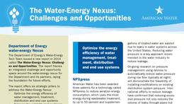 Water-Energy Nexus Fact Sheet